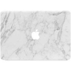 Marble MacBook Skin White ($25) ❤ liked on Polyvore featuring accessories, fillers and technology
