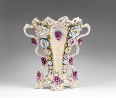 Jacob Petit French Porcelain Foral Encrusted Vase from piatik on Ruby Lane Vases, Urn Vase, Rococo, Baroque, Old Paris, Ceramic Flowers, Ruby Lane, China Porcelain, Bone China