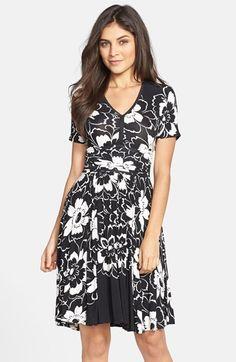 Plenty by Tracy Reese  Hannah  Print Jersey Fit   Flare Dress  1f5f175e7375