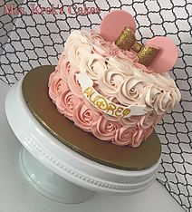 Minnie Mouse Rosettes Custom-made and personalized cakes, cookies, and desserts serving the St. Louis, MO area.