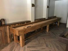 The Ponderosa Shuffleboard cabinet is available in knotty pine or Oak. Handcrafted in Michigan