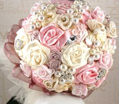 brooch bouquet with grandmother's brooches