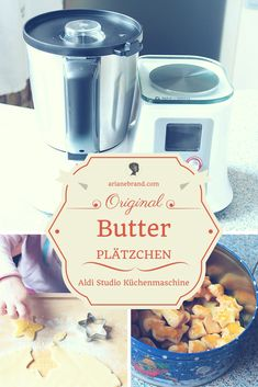 FOOD: Butterplätzchen - super schnell gemacht mir der Aldi Studio Küchenmaschine / #backen #plätzchen #weihnachtsplätzchen #aldiküchenmaschine #themomix