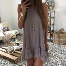 Women Summer Casual Sleeveless Evening Party Beach Short Mini Dress #dresses #fashion #style #women #trend
