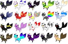 DEMON CAT ADOPTABLE (AWESOME) all of them are mine