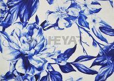 Kuvahaun tulos haulle royal blue flowers fabrics