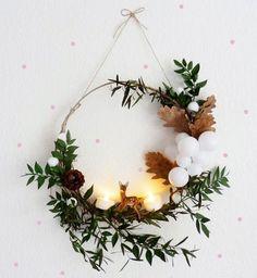 Décoration de Noël DIY : une guirlande de houx