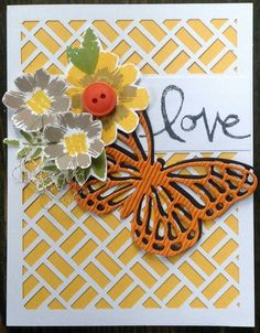 May 2016 Paper Pumpkin alternative Butterfly Cards, Flower Cards, Stampin Up Paper Pumpkin, Pumpkin Cards, Embossed Cards, Pumpkin Ideas, Love Valentines, Stamping Up, Greeting Cards Handmade