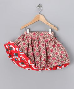 Pink & Red Reversible Swing Skirt - Infant, Toddler & Girls by Right Bank Babies on #zulily