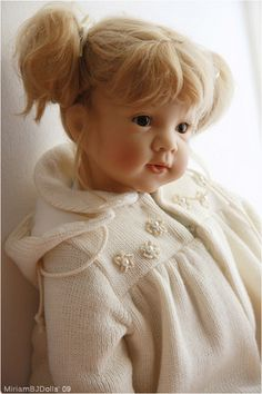 Amelie (Gotz doll by Elisabeth Lindner). Reborn Toddler Dolls, Child Doll, Reborn Dolls, Reborn Babies, Pretty Dolls, Beautiful Dolls, Amelie, Gotz Dolls, Dolls Dolls