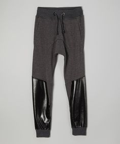 Look at this HYDRO POWER SUPPLY Charcoal Pieced Jogging Pants - Boys on #zulily today!