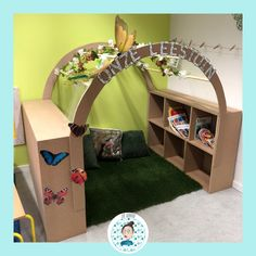 Reading Garden, Toddler Bed, Kindergarten, Coins, Teaching, Furniture, Home Decor, Bookmarks, Books