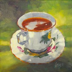 painting of a teacup - Google Search