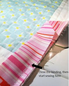 Binding & Blind Stitching Tutorial - Quilting In The Rain Makes a binding pocket to put the end of the binding in.   *****