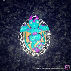 Items similar to Baby Dragon Cameo - Fantasy Creature - Dragons - Miniature - Cameo Dragon Pendant/Necklace/Brooch/Jewelry on Etsy Little Dragon, Baby Dragon, Dragon Miniatures, Dragon Pendant, Polymer Clay Charms, Clay Tutorials, Clay Creations, Fantasy Creatures, Handmade Crafts
