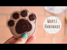 MaryJ Handmade: Zampa all'uncinetto / How to crochet a paw