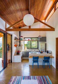 Home sala casa de campo ideas Style At Home, Barn Plans, Small House Design, Kitchen Interior, My Dream Home, Home Kitchens, Home Fashion, House Plans, Sweet Home