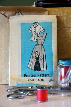 Dress Pattern - Sweetheart Jumper/Dress and Blouse - Size 14 1/2.