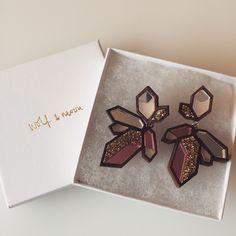 Wolf and Moon earrings #fashionblogger #blog #bunnipunch www.bunnipunch.co.uk