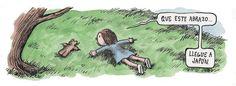 que este abrazo llegue a japon, by Liniers