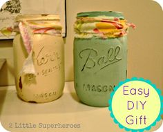 Easy Homemade Christmas Gift.- Maybe homemade candles in these?