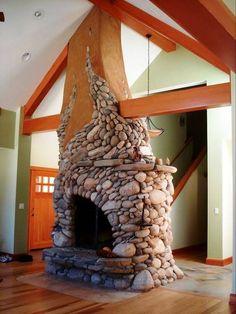 Creative stone fireplace | Hearth.com Forums Home