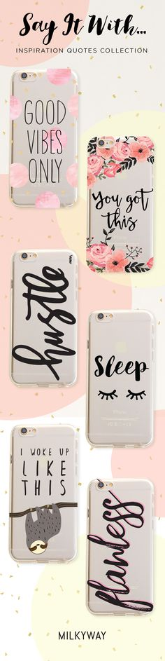 Good vibes only, I woke up like this, cool clear phone cases #PhoneCase