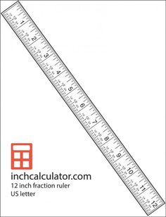 Canny image in printable ruler inches
