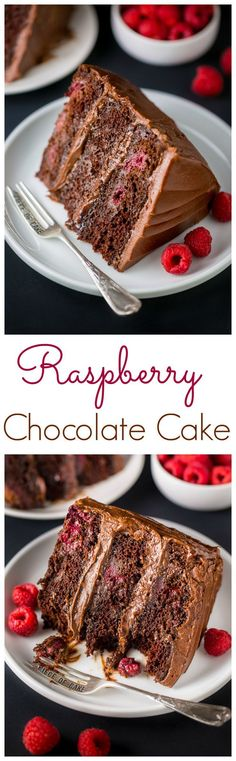This Triple Layer Chocolate Raspberry Cake is a SHOWSTOPPER! Top with fresh raspberries for an extra lovely presentation. This Triple Layer Chocolate Raspberry Cake is a SHOWSTOPPER! Top with fresh raspberries for an extra lovely presentation. Just Desserts, Delicious Desserts, Chocolate Raspberry Cake, Cake Chocolate, Chocolate Pudding, Cake Recipes, Dessert Recipes, Chocolate Shavings, Let Them Eat Cake
