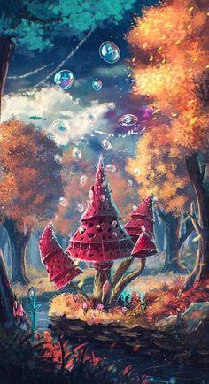 """Illustration d'un art digital magnifique by Sylar113 """"L'esprit magique de la Forêt Lutine ! ... de SYLAR113"""