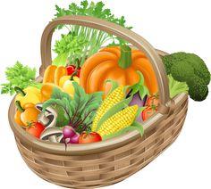 Great Clip Art of Vegetables: Basket of Vegetables