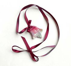 Handmade ceramic necklace in bordo and pink . by AHouseAtelier, $25.00