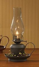 New Primitive Country BLACK HURRICANE LAMP Electric Oil Lantern Light