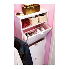 Wondering if this would work to hold hair appliances and other things in a tight space in the upstairs bathroom    SKÄR Shoe cabinet with 3 compartments IKEA