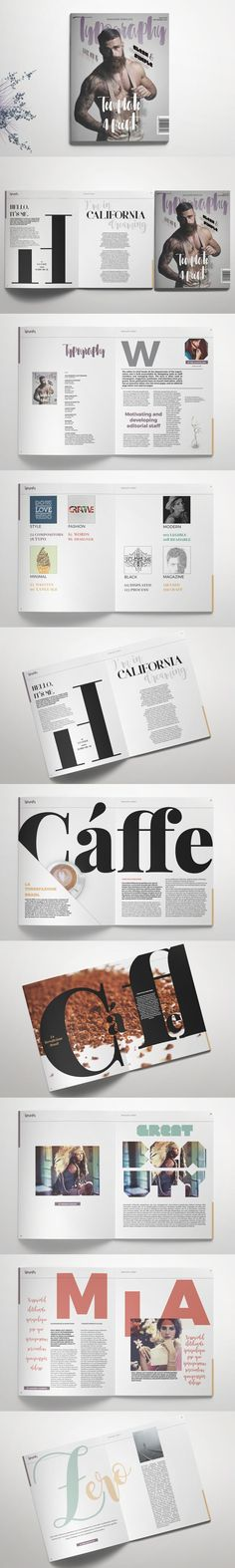 #magazine #design from Template 4 Print | DOWNLOAD: https://creativemarket.com/template4print/671113-Typography-Magazine?u=zsoltczigler