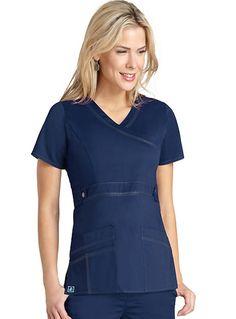 2d979120062 Adar Pop-Stretch Junior Fit Taskwear Tab-Waist Crossover Top Item #:  AD-3200 view details. Top StitchingScrubs UniformNurse ...