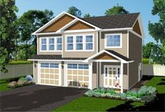 Small apartment over garage... House Plan No.207060 House Plans by WestHomePlanners.com