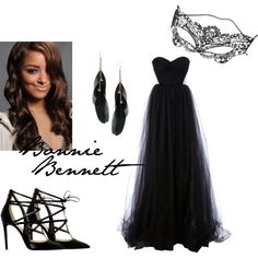 """Bonnie Bennett dress for masquerade dance """"Saints and Sinners"""" Masquerade Party Outfit, Masquerade Ball Gowns, Masquerade Masks, Bonnie Bennett, Night Outfits, Dress Outfits, Maskerade Outfit, Ball Dresses, Prom Dresses"""