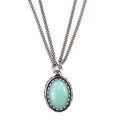 """$30.00 Nine West Vintage America Collection® 16/32"""" Convertible Seafoam Pendant Necklace at www.herbergers.com"""