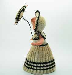 Your place to buy and sell all things handmade Rock A Bye Baby, Hand Crochet, 1940s, Bucket Bag, Arms, Hat, Dolls, Vintage