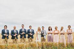 Rustic Patterns & Pastels Wedding Love the groom and groomsmen attire