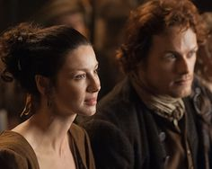 Claire (Caitriona Balfe) and Jamie (Sam Heughan) from Episode 3 of Outlander on Starz via http://outlandertvnews.com/