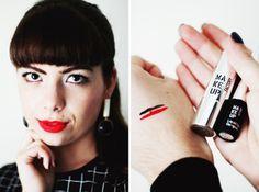 Review: Make-up Factory Peeptoes & Petticoat - Liquid Eye Designer and Lip Colour 159 Rebel Red
