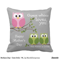 Mothers Day - Cute Owls - Whooo loves you