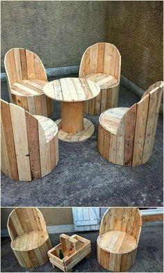 Pallet Furniture Projects 200 Wooden Pallet DIY Ideas For Decor Your Home - Wooden Pallet Projects, Wooden Pallet Furniture, Pallet Crafts, Wooden Pallets, Wooden Diy, Diy Furniture, Pallet Chair, Furniture Plans, Pallet Sofa Tables