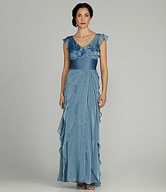 Adrianna Papell Woman Tiered Gown #Dillards
