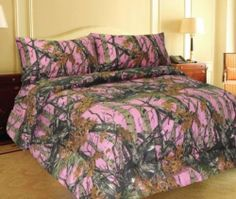 Pink Woodland Camo Comforter Spread 1 Piece - Full - by Regal Comfort. $38.00. Great outdoor Pink Woodland Tree and Leaf Style Camo Pattern.. Made of Pill resistant microfiber with 200 gram fill.. Adds A Rustic Look To Any Bedroom and Makes a Great Gift!. Full Size Measures 86 inches x 86 inches. This is a full or queen size measuring in at 86 by 86 inches.. Save 62%!