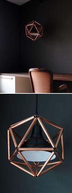 DIY Copper Pipe Pendant Light