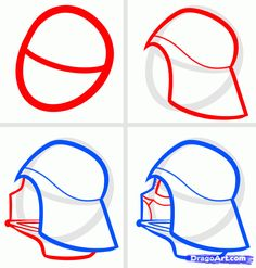 how to draw darth vader easy step 1