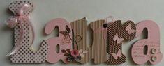 Laura flor e borboleta porta maternidade | Válvula de Scrap | Elo7